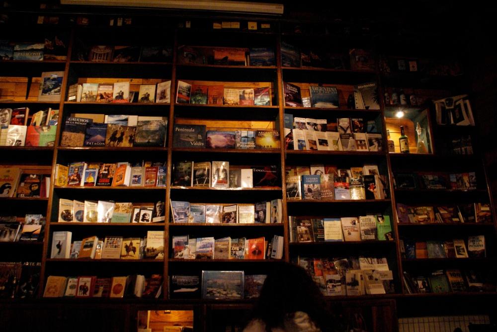 book bar in calafate, Argentina