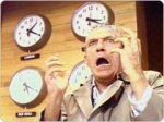 "Howard Beale (Peter Finch) delivering his ""mad as hell"" speech"